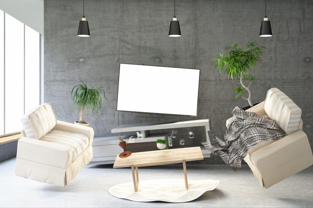 テレビ 転倒